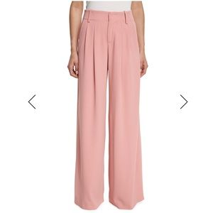 Alice & Olivia Eloise Wide Leg Trouser in Pink